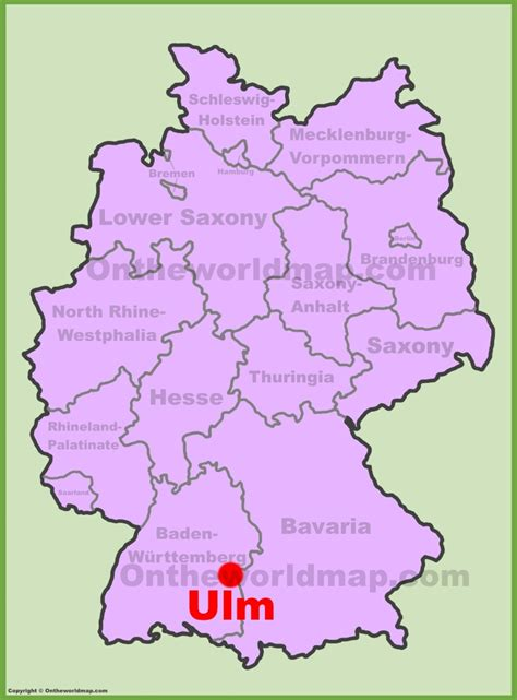 map of ulm germany ulm location on the germany map
