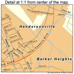 map of hendersonville carolina hendersonville carolina map 3730720