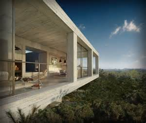 concrete homes concrete house softened by the environment the house
