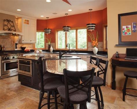 kitchen islands with tables attached calico granite houzz