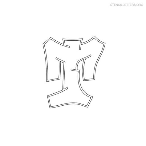 free graffiti letter stencil coloring pages
