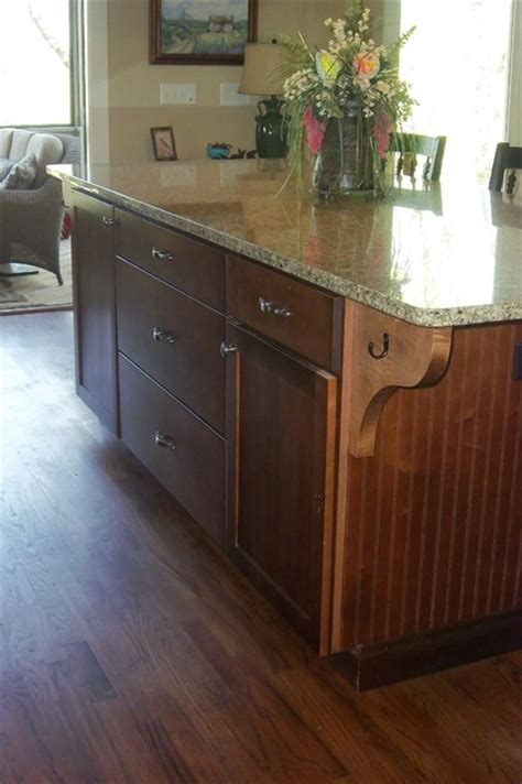 large granite top island w beadboard traditional