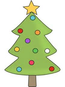 christmas tree with colorful ornaments clip art christmas