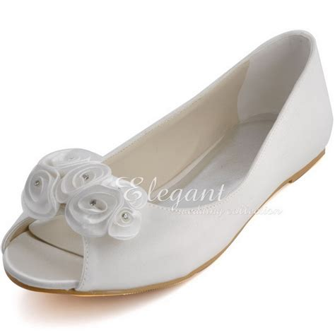 flat peep toe bridal shoes buy ep31015 fashion ivory bridal flats