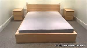 King Platform Bed Set - ikea malm bed youtube