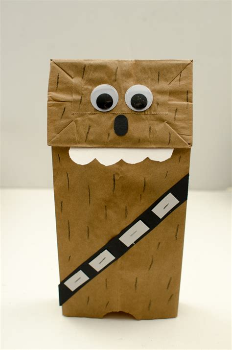How To Make Puppets Out Of Brown Paper Bags - chewbacca paper bag puppet a grande