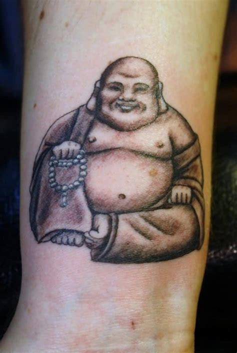 Cute Laughing Buddha Tattoo Design   Tattooshunter.com