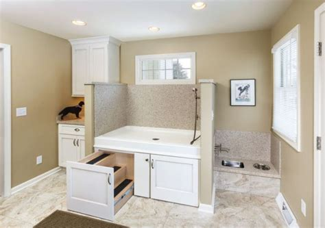Master Bath Floor Plans No Tub She Remodeled Her Laundry Room For Her Dog Now I M Never