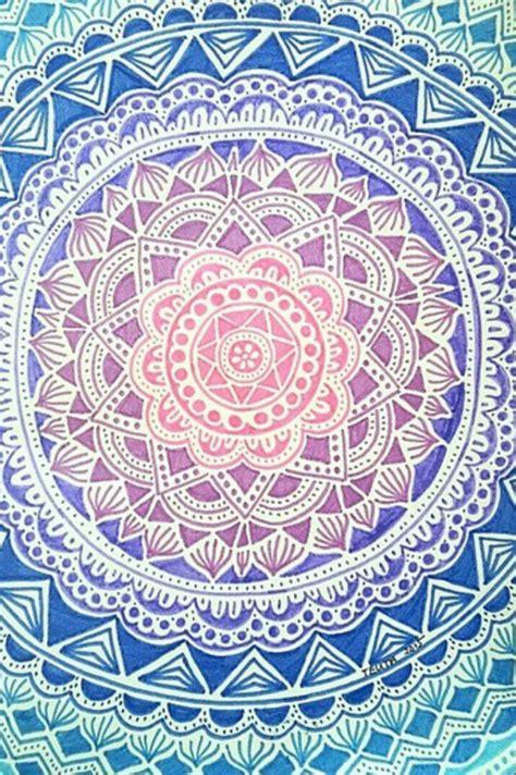 Background colours mandala pattern wallpaper