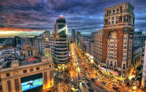 fondos de pantalla espana casa carreteras madrid calle noche farola hdr ciudades descargar imagenes