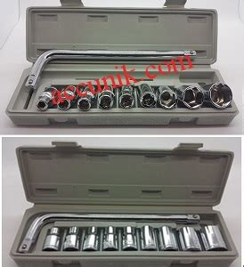 Kunci Sok Shock Socket Set 10 Pcs Vpr jual kunci socket kunci shock 10 pcs jenis besar rp 60 000 paket kunci sok socket set wrench