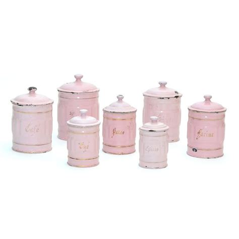 white kitchen canisters sets french canisters set of 7