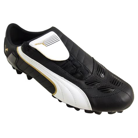 mens black football boots mens v kon ii l gci fg leather black football boots