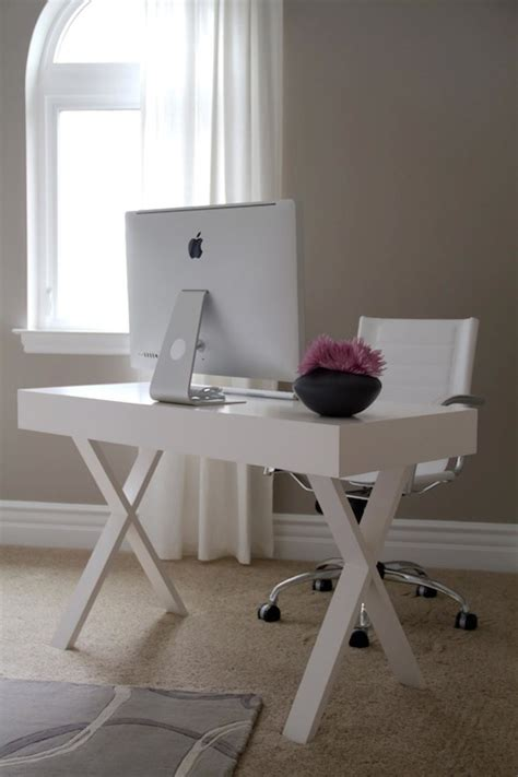X Base Desk Design Ideas White Josephine Desk