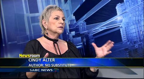 cindi alter newsroom cindy alter s book no substitute youtube