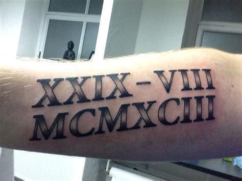 roman numeral tattoo by mrandersiversen on deviantart