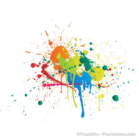 colorful paint splashes abstract background vector free