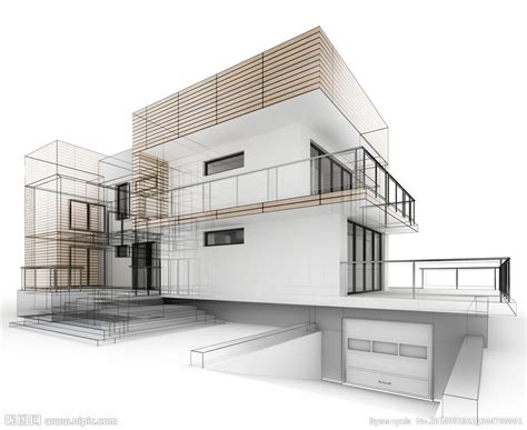 residential ink home design drafting 手绘建筑设计图 3d设计 3d设计 设计图库 昵图网nipic com