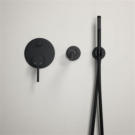 Mat Tapping by Lusso Luxe Wall Mounted Bath Tap With Valve And Handheld