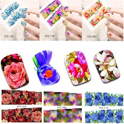 84 Nail Sticker Sticker Kuku Nail Wraps 50 sheets nail flower water sticker nails wraps