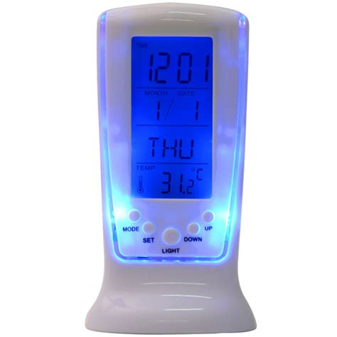 Led Light Backlight Alarm Clock With Temperature 510 led backlight calendar alarm square clock 510 lazada malaysia