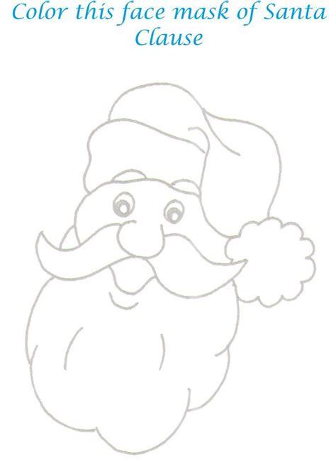 santa mask coloring page santa face mask coloring printable page for kids