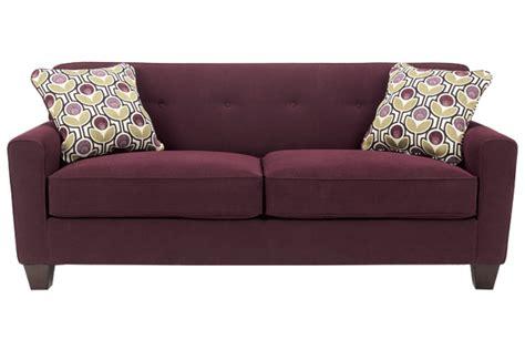eggplant colored couch ashley furniture danielle eggplant sofa living room