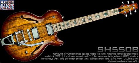 best jazz guitars sh550 kiesel semi hollow carved top jazz guitar