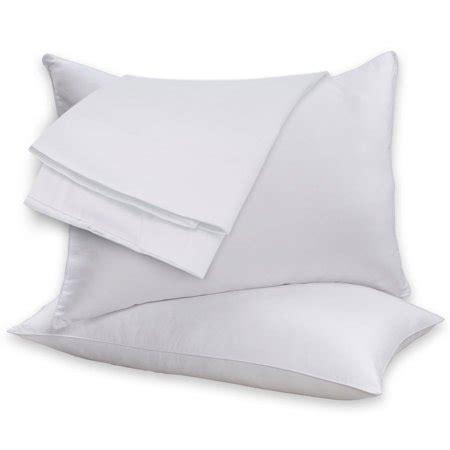 100 duck pillows 2 pack 100 cotton shell duck feather pillow pair