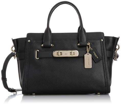 Ready Coach Swager 33 Black coach swagger carryall in nubuck pebble leather li gold black style 34408 liblk