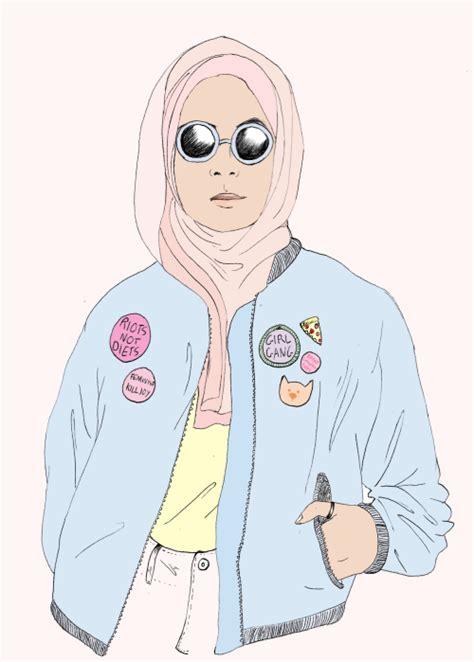 Nathali Style Jilbab drawing