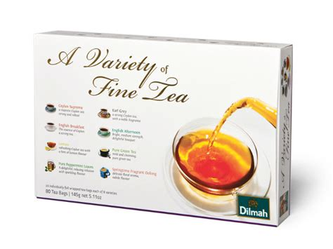 Dilmah Variety Of Tea herbata dilmah variety of tea 8 rodzaj 243 w kopertowana 80 torebek upominki prezenty