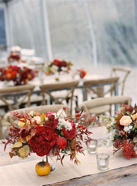 fall decorations for tables fall wedding reception table ideas photograph fall wedding