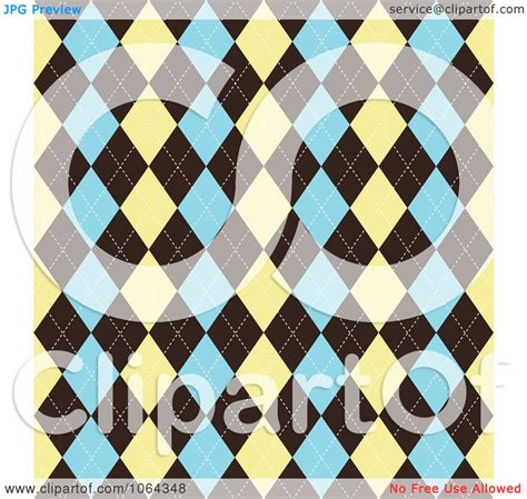 argyle pattern history clipart argyle pattern in tan brown and blue royalty