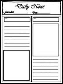 blank newspaper template free blank newspaper template for printable newspaper
