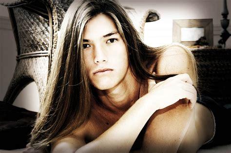top long haired male models long hair model male