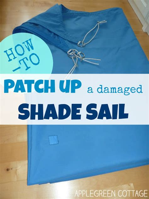how to fix torn window shades how to repair a shade sail applegreen cottage