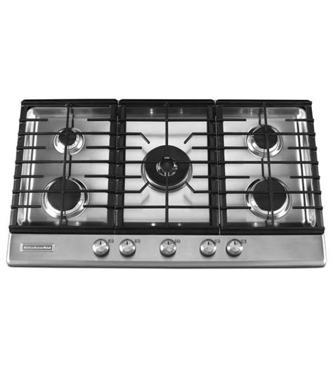 kitchenaid 36 inch induction cooktop kitchenaid 174 36 inch 5 burner gas cooktop architect 174 series ii kfgs366vss stainless steel