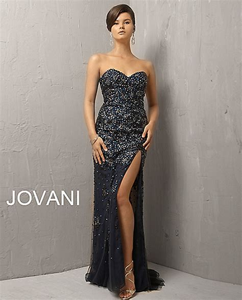jovani 4247 strapless sweetheart bodice tulle thigh high