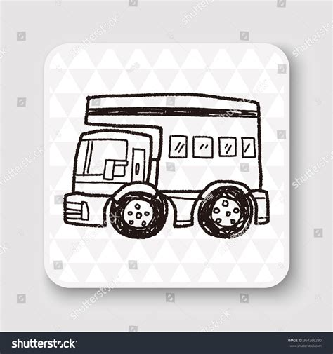 doodle car doodle travel car stock vector 364366280