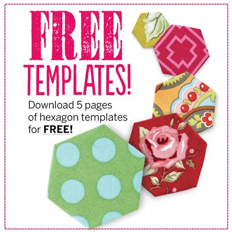 Free Patchwork Templates - free hexagon template pdf patchwork quilting