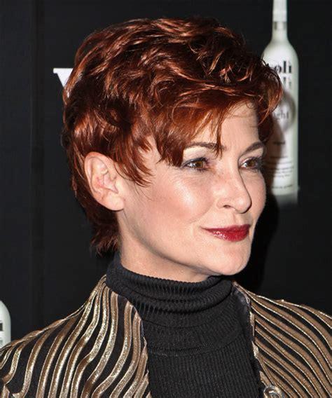 general hairstyles carolyn hennesy short straight formal hairstyle medium red