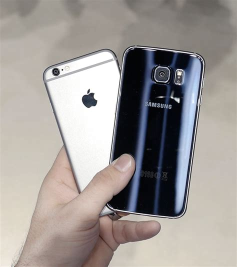 apple iphone   samsung galaxy   side  side comparison