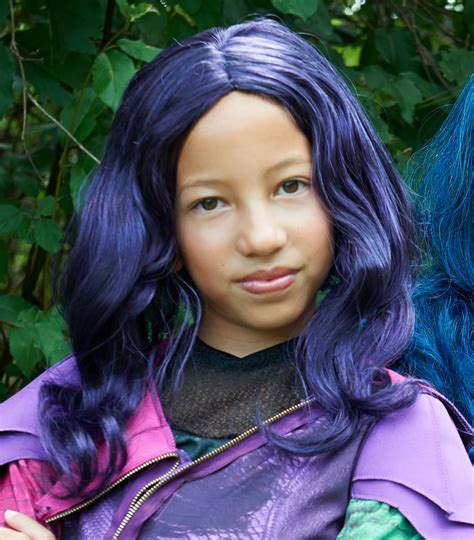 mal hair mal hair disney s descendants girls mal wig buycostumes