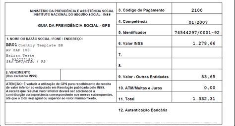 guia para calculo arrendador 2016 calculo da gps guia da previdencia social erp human