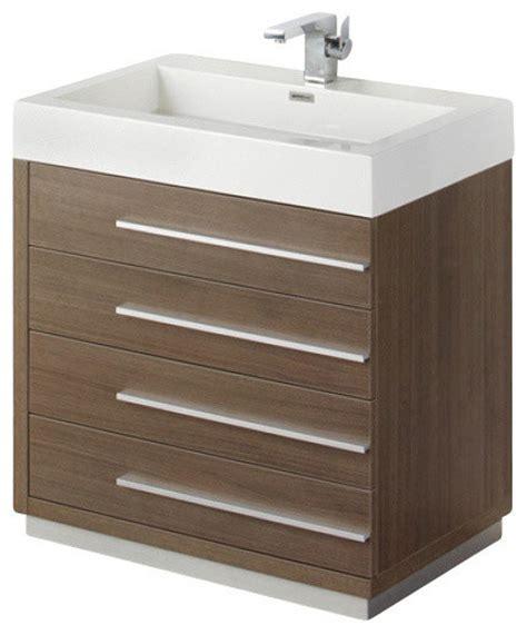 30 inch gray oak modern bathroom vanity contemporary
