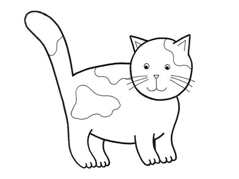 Picture Of A Cat To Color by Free Cat Coloring Pages