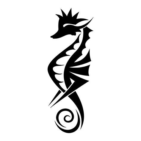 seahorse tatto black amp white tribal