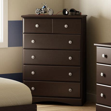 south shore 5 drawer chest walmart south shore morning dew 5 drawer chest chocolate