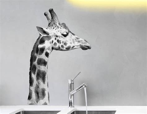 black and white wall stickers black and white giraffe wall sticker contemporary wall